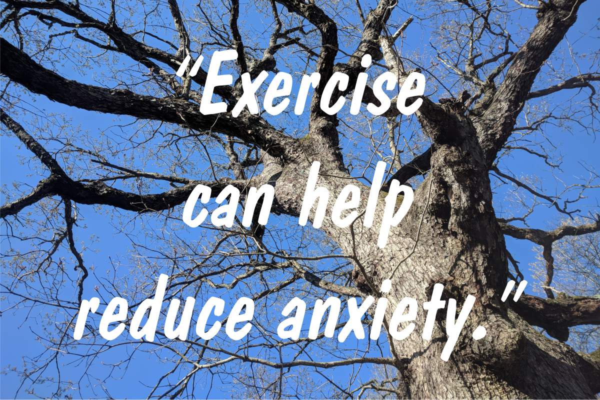 "Coping statement #14: ""Exercise can help reduce anxiety."""