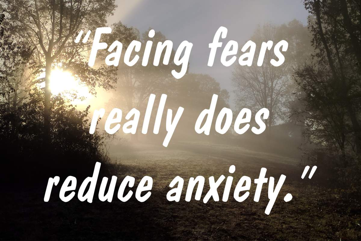 "Coping statement #15: ""Facing fears really does reduce anxiety."""