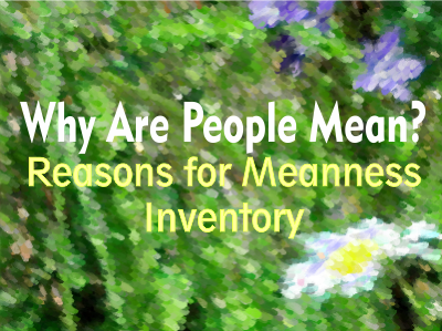 Why Are People Mean? Reasons for Meanness Inventory