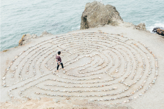 walking a meditation labyrinth
