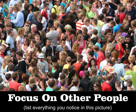 Focus on other people (list everything you notice in this picture)