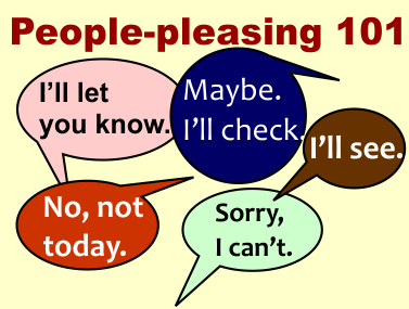 People-pleasing 101